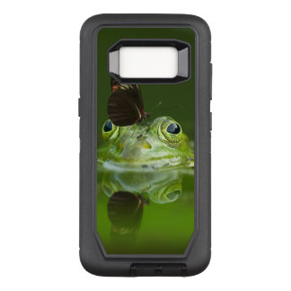 Green Frog and Butterfly OtterBox Defender Samsung Galaxy S8 Case