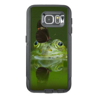 Green Frog and Butterfly OtterBox Samsung Galaxy S6 Case