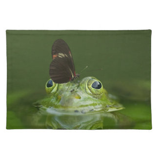 Green Frog and Butterfly Placemat