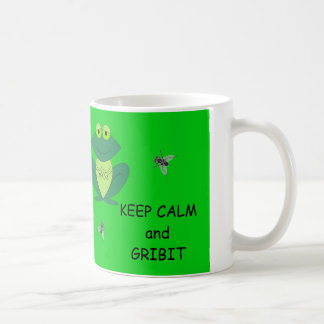 Green Frog and Flies on MUG: Keep Calm and Gribit