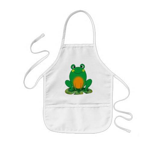 Green frog apron
