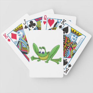 GREEN FROG BICYCLE PLAYING CARDS