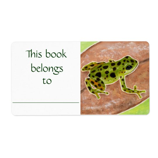 Green Frog book label