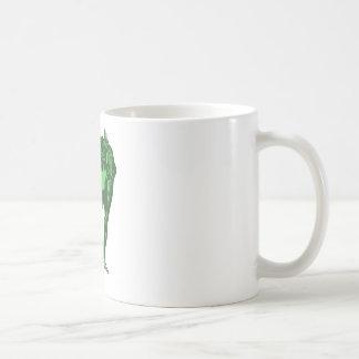 Green Frog Bowing Coffee Mug
