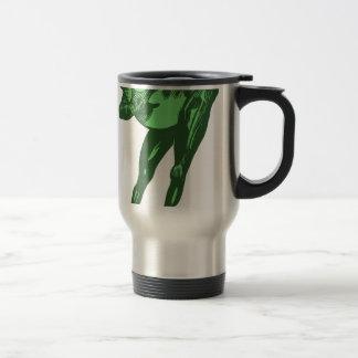 Green Frog Bowing Travel Mug
