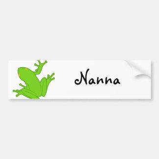 Green Frog Car Bumper Sticker