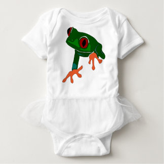 Green Frog Cartoon Baby Bodysuit