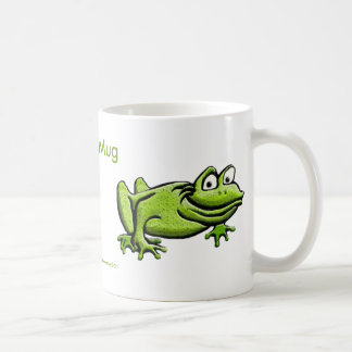 Green Frog Cartoon Coffee Mug