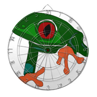 Green Frog Cartoon Dartboard