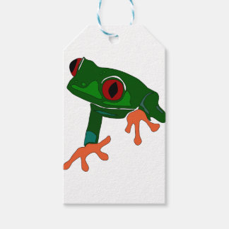 Green Frog Cartoon Gift Tags