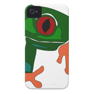 Green Frog Cartoon iPhone 4 Case-Mate Case