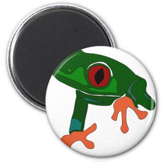 Green Frog Cartoon Magnet