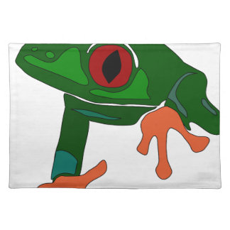 Green Frog Cartoon Placemat