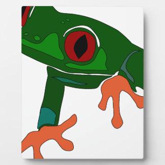 Green Frog Cartoon Plaque