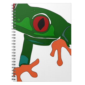 Green Frog Cartoon Spiral Notebook