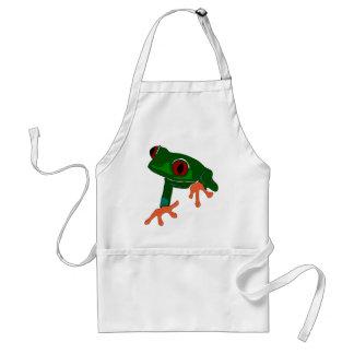 Green Frog Cartoon Standard Apron