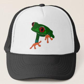 Green Frog Cartoon Trucker Hat