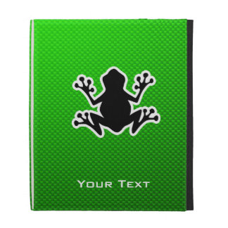 Green Frog iPad Folio Covers