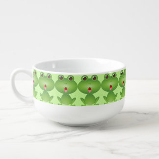 Green Frog Cute Soup Mug