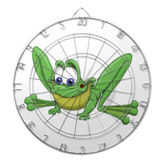 GREEN FROG DARTBOARD WITH DARTS