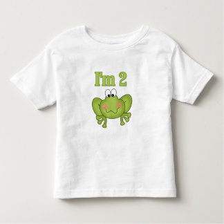 Green Frog I'm Two Toddler T-Shirt