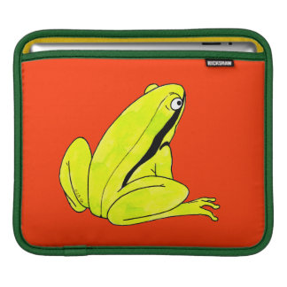Green frog sleeves for iPads