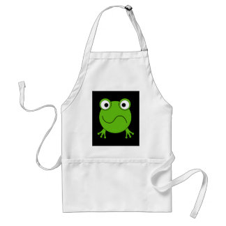 Green Frog Looking confused Apron