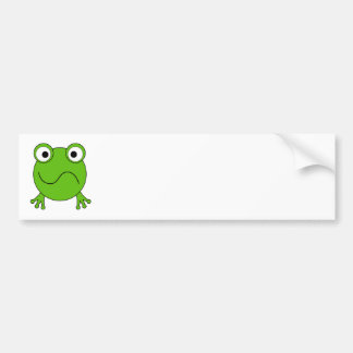 Green Frog. Looking confused. Bumper Stickers
