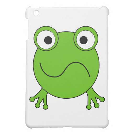 Green Frog. Looking confused. Cover For The iPad Mini