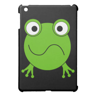 Green Frog. Looking confused. iPad Mini Cases