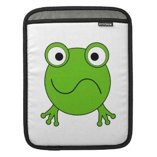 Green Frog. Looking confused. iPad Sleeve