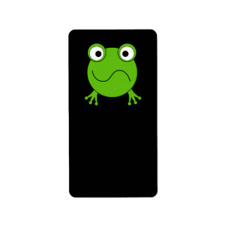 Green Frog. Looking confused. Address Label