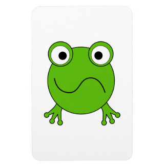 Green Frog Looking confused Rectangular Magnet