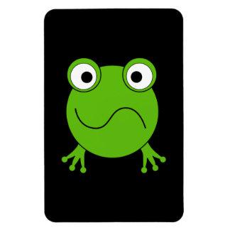 Green Frog Looking confused Vinyl Magnet