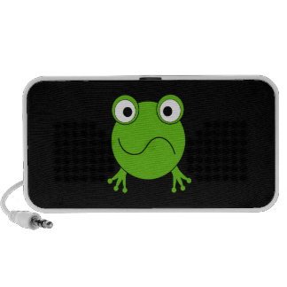 Green Frog. Looking confused. Travel Speakers