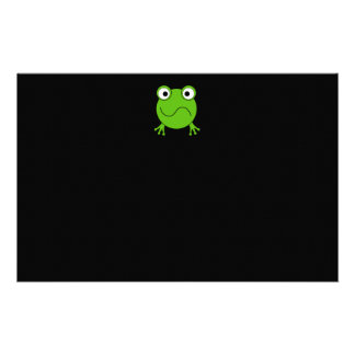 Green Frog. Looking confused. Stationery Paper