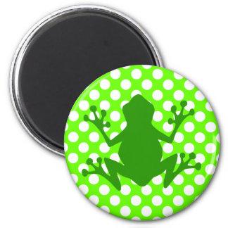 Green Frog Fridge Magnet