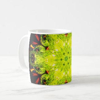 Green Frog Mandala Coffee Mug
