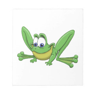GREEN FROG NOTEPAD