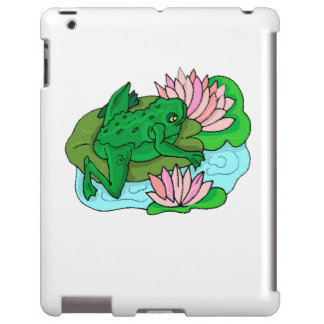 Green Frog On Lilypad