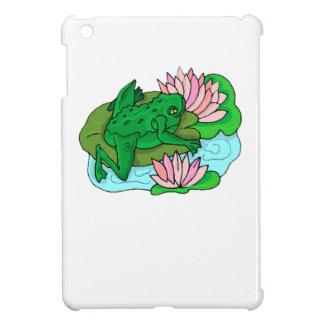 Green Frog On Lilypad iPad Mini Cover