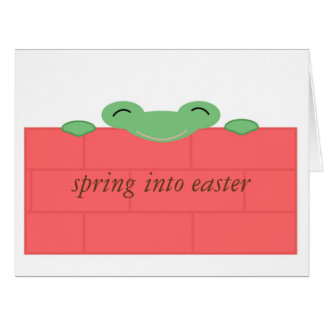 Green frog on red wall Big Greeting Card
