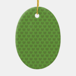 Green Frog Pattern Ceramic Ornament