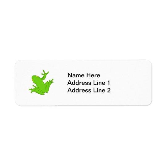 Green Frog Return Address Label