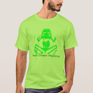 Green frog skeleton Tee -Mean Green Machine