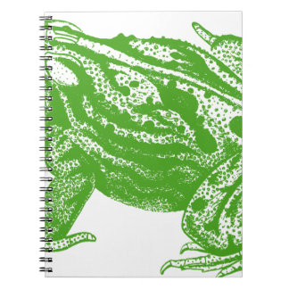 Green Frog Spiral Note Books