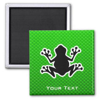 Green Frog Square Magnet