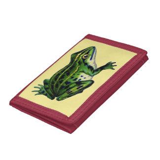Green Frog Tri-fold Wallet