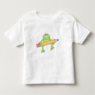 Green Frog with Pencil Toddler T-Shirt