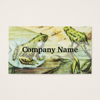 Green Frogs, Animal Illustration Business Card